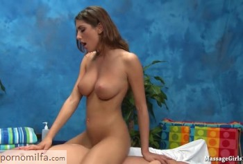 August Ames with perfect Breasts rides a cock