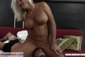 An aged lady aroused her friend's son and fucked him
